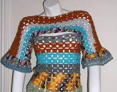 Image result for freeform crochet sweater