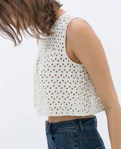 Image 5 of CHROCHET CROP TOP from Zara