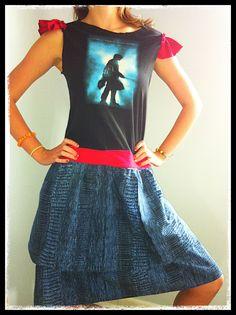 Harry Potter Upcycled Tshirt Dress by BellaPoppyArt on Etsy, $22.50