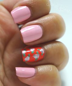 Spring Trend: Bright & Floral Nail Art #nails