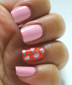 Spring Trend: Bright & Floral Nail Art #nails