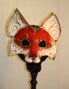 La Volpe   Handmade Leather Fox Mask by MaskEra on Etsy, $200.00