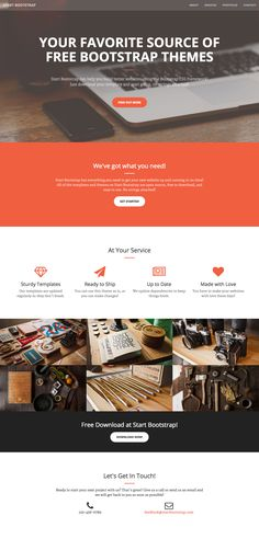 'Creative' is a free One Page HTML template suited for creative portfolios and is built on the popular Bootstrap Framework.