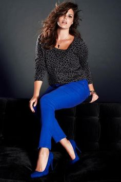 Plus-size supermodel Candice Huffine