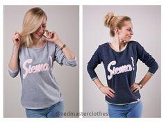 wiosna za oknem, a z nią wiosenne nowości:) bluzy z pluszowym - milutkim napisem :) także SIEMA!