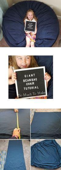 Giant Bean Bag Chair Tutorial