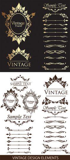 ゴージャスなヨーロピアンクラシカル系の飾り罫、飾り枠、フレーム、ラベルなど ベクターデータ(EPS)でダウンロード! Vintage frame design ele……