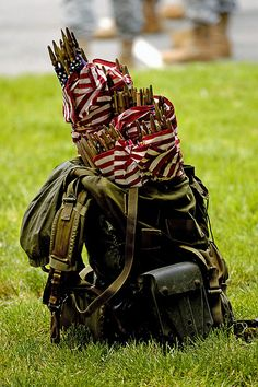 'Flags-In' at Arlington National Cemetery for Memorial Day...Lance did 2 tours (6 yrs total) with the 3rd US Infantry (The Old Guard) and I remember 'flags in' every Memorial Day....
