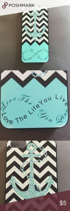 "iPhone 5 case Anchor with chevron phone case - ""live the life you love, love the life you live"". Excellent condition. Accessories Phone Cases"