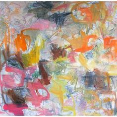 """Oil Abstract """"Joy Ride"""" by Trixie Pitts 48""""x48"""""""