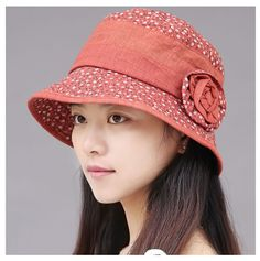 Cheap flower bucket hat for women floral pattern sun protection hats
