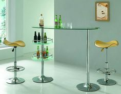 cool modern glass table and chairs