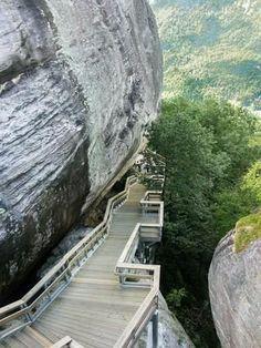 Trails in the Chimney Rock State Park Trailhead Area, North Carolina