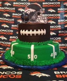 Football party cake!  See more party ideas at CatchMyParty.com