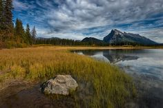 Fall colours at Vermillion Lakes III by Bob Bittner