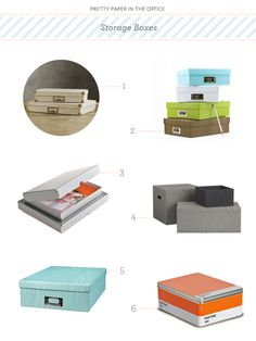 Pretty Paper in the Office Storage Box Round Up via Oh So Beautiful Paper