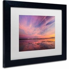 Trademark Fine Art Baker Bounday Sunset Canvas Art by Pierre Leclerc, White Matte/Black Frame/Archival Paper, Size: 16 x 20, Multicolor