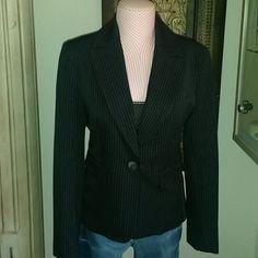 Anne klein blazer Anne klein blazer Size 4 in good condition color navy blue with colored pin stripes Anne Klein Jackets & Coats Blazers