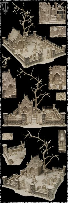 Graveyard/cemetery from Tabletop World; how friggin cool is this????