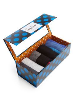Multi Color Socks (4 Pack Gift Set) by Happy Socks at Gilt
