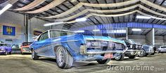 1960s American muscle car , a blue 2 door Ford Mercury Cougar on display at car show in Melbourne, Australia