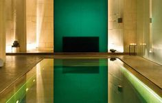 Beautiful #indoorpool with green colors Know more - www.technologypools.co.uk