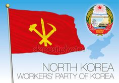 North Korea, flag of the Workers' Party — Vettoriali  Stock © frizio #154035042