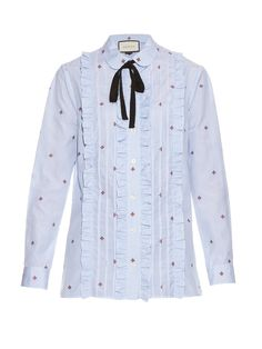 Bee fil coupé cotton shirt | Gucci | MATCHESFASHION.COM