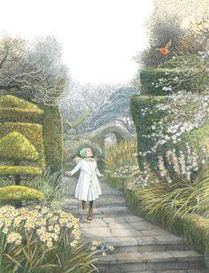 The Secret Garden illustration by Inga Moore