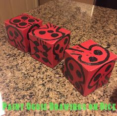 blogs of art diy nightmare before christmas ornaments oggie boogie dice - Halloween Christmas Ornaments