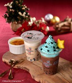 ムーミンスタンドクリスマスツリーのような飲むスウィーツチョコミントクリームなど期間限定で販売