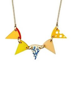 Tatty Devine Cheese Bunting necklace.  £38