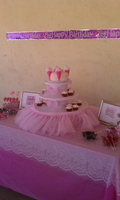Tutu party love the cake stand