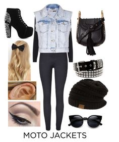 """""""Moto jacket style"""" by britxd on Polyvore featuring beauty, Topshop, Chloé, Jeffrey Campbell, Mehron and New Look"""