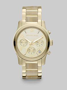http://diamondsnap.com/michael-kors-runway-goldtone-and-faux-horn-chronograph-bracelet-watch-p-19023.html