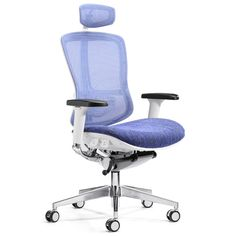 Elegant blue mesh office recliner chair ergonomic mesh office chair staff mesh office chair to protect your healthy