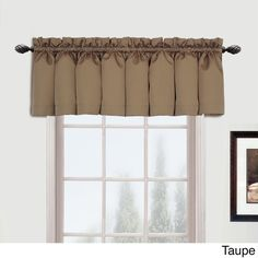 United Metro Woven Extra-long Curtain Panel (108 Taupe (Brown)), Size 54 x 108 (Polyester, Stripe)