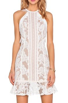Sleeveless Crochet Flower Cut Out Lace Dress
