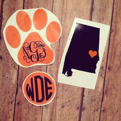 Auburn Tigers War Eagle Decal Monogram Pack by SimplySouthernChics, $11.00