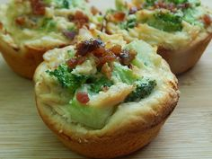 Chicken & broccoli biscuit pies
