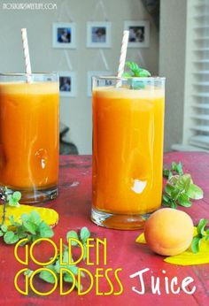 Goddess Juice ~ 2   Golden Beets (large) 3   Golden Delicious Apples 8   Apricots (pits removed) 5   Carrots