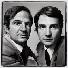 François Truffaut & Jean-Pierre Léaud by Richard Avedon
