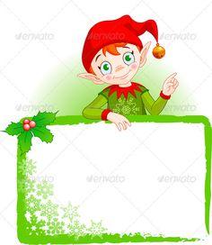 Christmas Elf Invite & Place Card