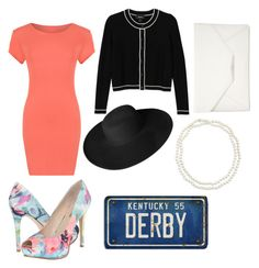"""Derby ready"" by alyssab233 on Polyvore featuring beauty, WearAll, Monki, GUESS, Dorfman Pacific, Chico's and Style & Co."