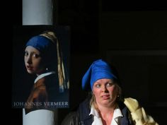 "From ATC ""Articulating the Arts: A Thousand Words"": ""The Exhibition"" written by JD Laurence, directed by Eric Siegel, with Marta Reiman. Inspired by Johannes Vermeer's ""Girl with a Pearl Earring."""