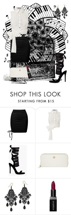 """black and white"" by timastyle ❤ liked on Polyvore featuring Sans Souci, Marissa Webb, Joop! and Smashbox"