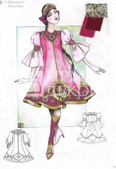 Женский танцевальный костюм (Мод-660, Мод-661)