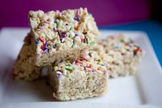 Funfetti Rice Crispy Treats