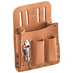 Klein Tools 5126 Leather Tool Pouch with Knife Snap Leather Art, Leather Pouch, Leather Tooling, Tool Pouch, Tool Belt, Diy Handbag, Leather Pattern, Leather Projects, Small Leather Goods