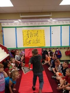 Last day of school -elementary school.... BEST IDEA EVER. This blog has adorable and fun games to play on the last day. Then, the teacher did candy themed red carpet awards for all students.